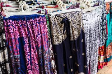 women's clothing on a street market, Siem Reap