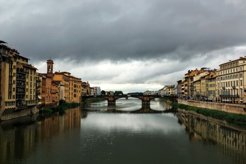 Bridge over Arno river in Florence, Italy