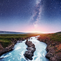 Fantastic views of the landscape. Starry sky