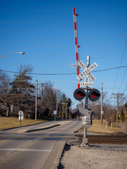 Railroad crossing road