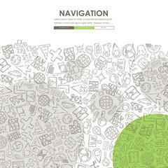 navigation Doodle Website Template Design