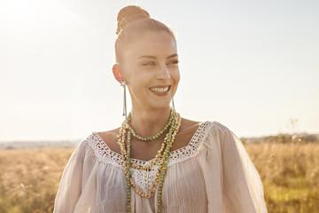 Croatia, Dalmatia, Beautiful woman outdoors, portrait