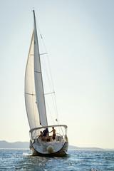 Croatia, Sailboat in the Adriatic Sea