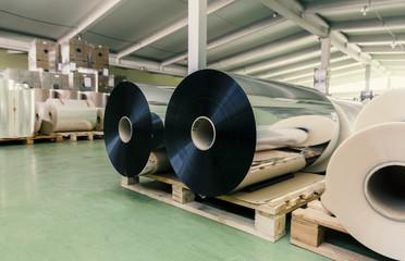 rolls of aluminum foil