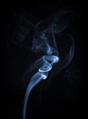 Abstract Blue Smoke Flowing Vertical Background