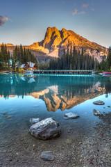 Emerald Lake Sunset in Yoho National Park, British Columbia, Canada