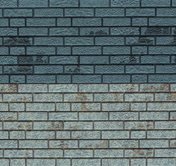 Blue wall of hard decorative stone.Roughness uneven wall background.Design element.Abstract blue web banner