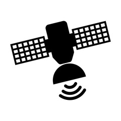 satellite silhouette isolated icon vector illustration design