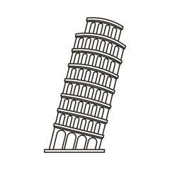 pisa tower isolated icon vector illustration design