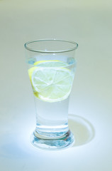 glas of water with lemon