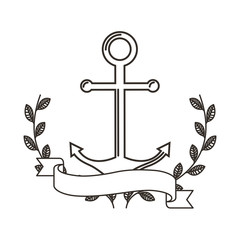 anchor maritime isolated icon vector illustration design