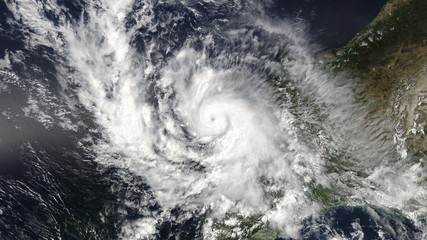 Zelfklevend Fotobehang Onweer View of Global storm from space. Elements of this image furnished by NASA
