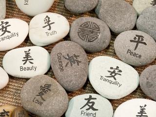 Zen symbols on stones