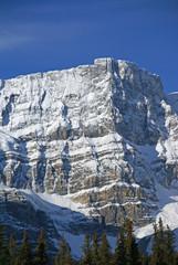 Mt. Crowfoot ,hanging glacier in cirque