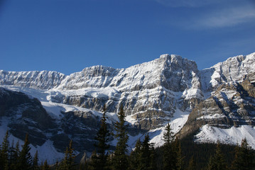 Mt. Crowfoot ,hanging glacier