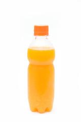 orange juice in plastic bottle for drink