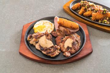 mix grilled steak