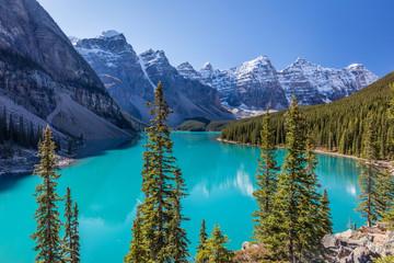 Crown Jewel of the Canadian Rockies, Moraine Lake in Banff National Park, Alberta