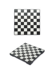 Empty chess board isolated