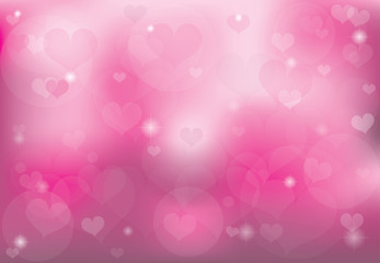 Background of romantic love heart on Valentine's Day.