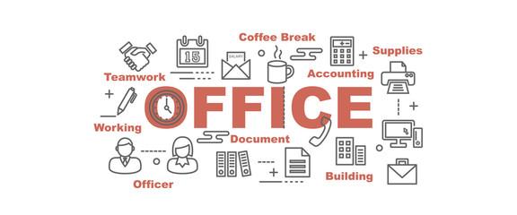 office vector banner