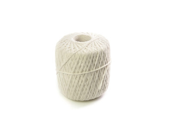 Roll white thread isolated on white background
