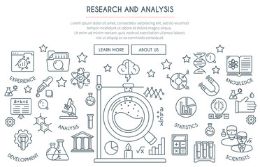Research and Analysis Concept