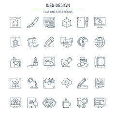 Website design Thin Line icons