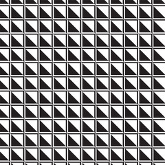 black and white triangles and square edge pattern background