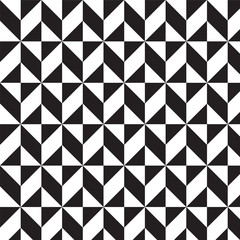 black and white triangles and squares pattern background