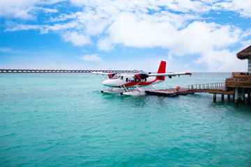 Hydroplane at Maldives island