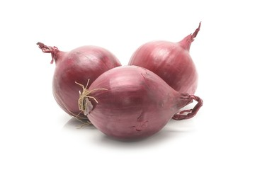 Wall Mural - red onion isolated on the white background