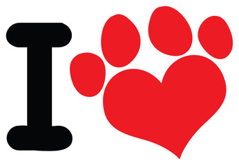 Red dog paw logo - photo#42