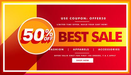 best sale banner and sale voucher design for brand promotion