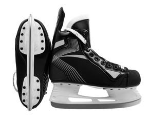 Men's hockey skates isolated on white background