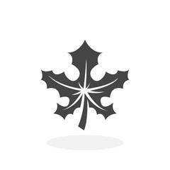 Maple leaf Icon. Vector logo on white background