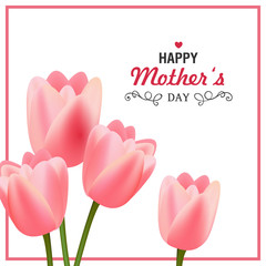 Vector Illustration of a Happy Mothers Day Greeting Card Design