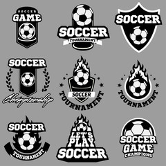 Soccer or football logo, emblem, badge