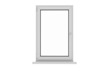 Window. Isolated window. Aluminum window. White window. Pvc window.