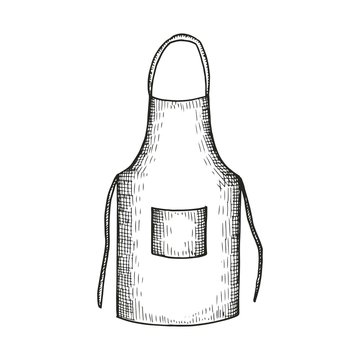 sketch apron. vector illustration isolated