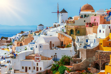 Obraz Oia, Santorini Island, Greece - fototapety do salonu