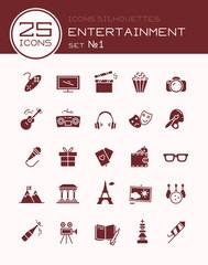 Icons silhouettes entertainment set №1
