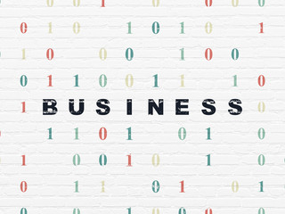 Business concept: Business on wall background