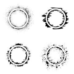 Circle grunge frames
