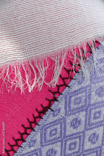 Traditional Ethiopian Fabrics in Bright Colors