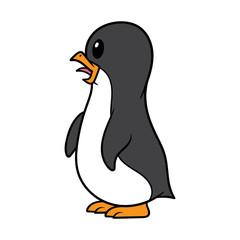 Cartoon Penguin Chick Vector Illustration