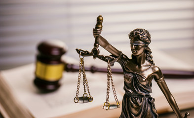 Legal law concept Justice symbols