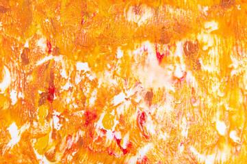 Orange watercolor grunge background pattern