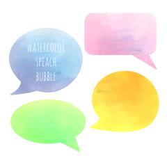 vector watercolor speach bubble