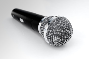 3d realistic render of wireless microphone